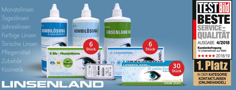 Linsenland Kontaktlinsen günstig online kaufen