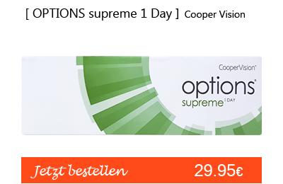 Options Supreme 1 day 30er, Cooper Vision Tageslinsen