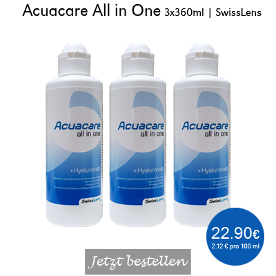 Acuacare All in One 3x360ml, SwissLens