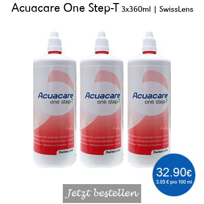 Acuacare One Step T 3x360ml, SwissLens