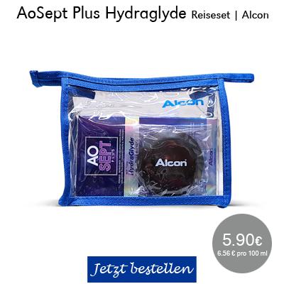 AOSept plus Hydraglyde Reiseset, 90ml, Alcon