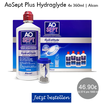 AOSEPT plus Hydraglyde Systempack 4x360ml, Alcon