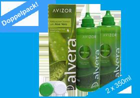 Avizor Alvera, Pflegelösung mit Aloe Vera, Silikon-Hydrogel-Linsen, Kombilösung mit natürlchen Wirkstoffen, Doppelpack