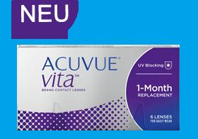 Acuvue Vita 1-Month, komfortable Monatslinse, Feuchtigkeitsspeicher, vitale Kontaktlinse, Johnson & Johnson
