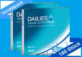 Dailies Aqua Comfort Plus 180er, Tageslinsen von Alcon, Vorratspack