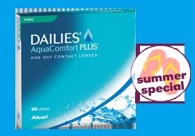 Dailies Aqua Comfort Plus toric 90er, torische Tageslinse, one day, Alcon