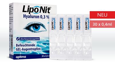 Lipo Nit Gel-Augentropfen Hyaluron Mono