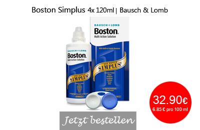 Boston Simplus 4x120ml, Bausch + Lomb