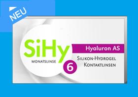 SiHy Hyaluron AS, asphärische Monatslinse, Silikon Hydrogel Linsen, weiche Kontaktlinsen