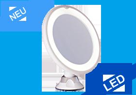 LED Spiegel 10-fach, Saugfuß, beleuchteter Spiegel, kabellos, Eye Care