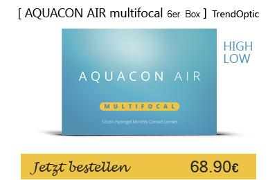 Aquacon Air multifocal 6er, Monatslinsen, TrendOptic