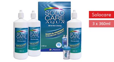 Solocare Aqua 3x360ml, Menicon
