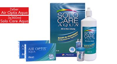 Air Optix Aqua 6er & 3x Solo Care Aqua