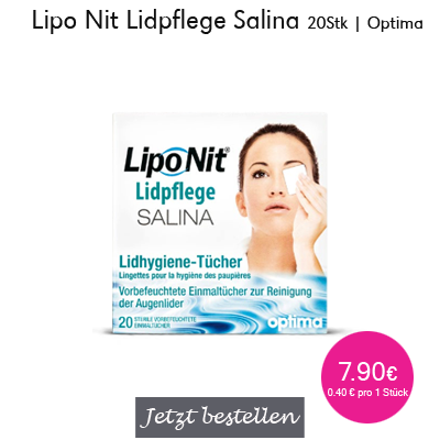Lipo Nit Lidpflege Salina 20Stk, Optima